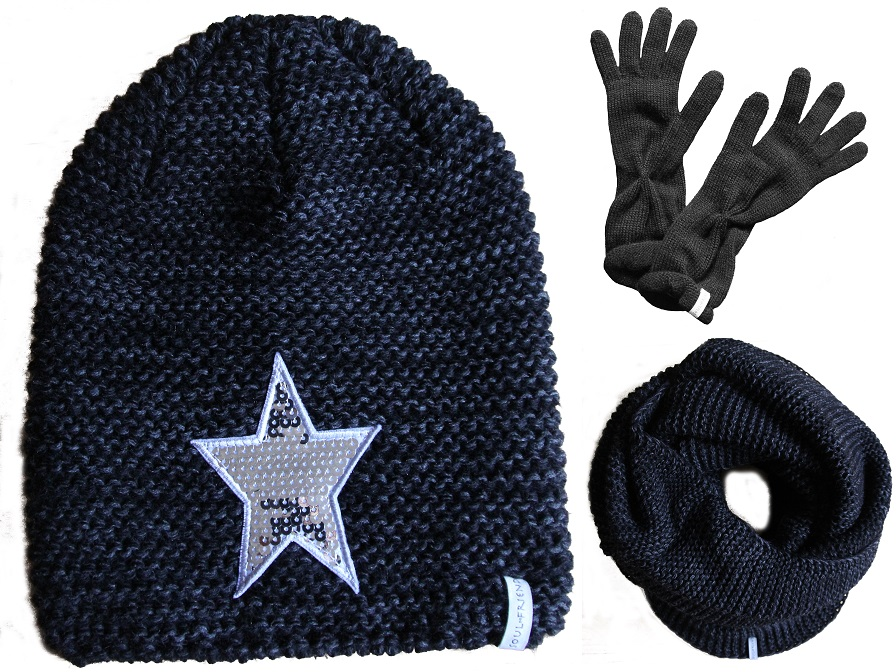 soulfriend damen set m tze loop schal handschuhe. Black Bedroom Furniture Sets. Home Design Ideas