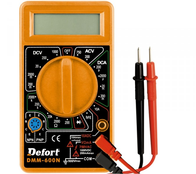 defort digital multimeter dmm 600n ebay