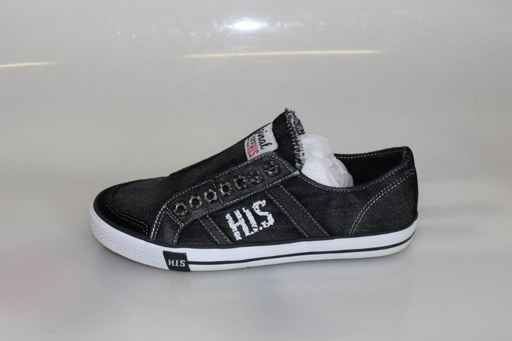 h i s jeans herren canvas sneaker high und low top zehentrenner 41 46 ebay. Black Bedroom Furniture Sets. Home Design Ideas