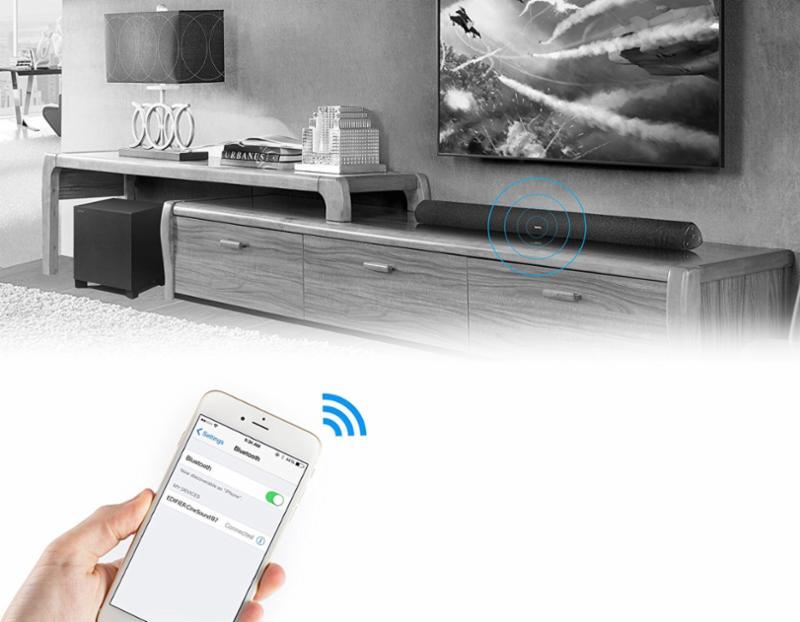 edifier b7 cinesound tv soundbar bluetooth kabellos subwoofer 145w wandhalterung ebay. Black Bedroom Furniture Sets. Home Design Ideas