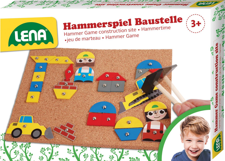 hammerspiel baustelle spielzeug kinder kleinkinder hammerspiel steckspiel ebay. Black Bedroom Furniture Sets. Home Design Ideas