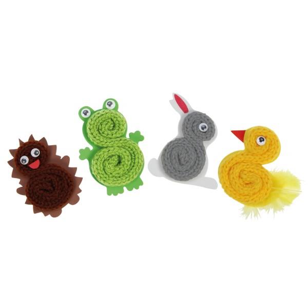 Strickliesel tiere spielzeug kinder kleinkinder kreativ for Strickliesel basteln
