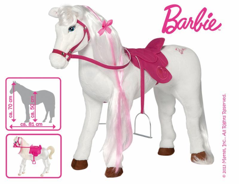 mattel barbie pferd majesty wei pink kinder m dchen spielzeug zum draufsetzen ebay. Black Bedroom Furniture Sets. Home Design Ideas