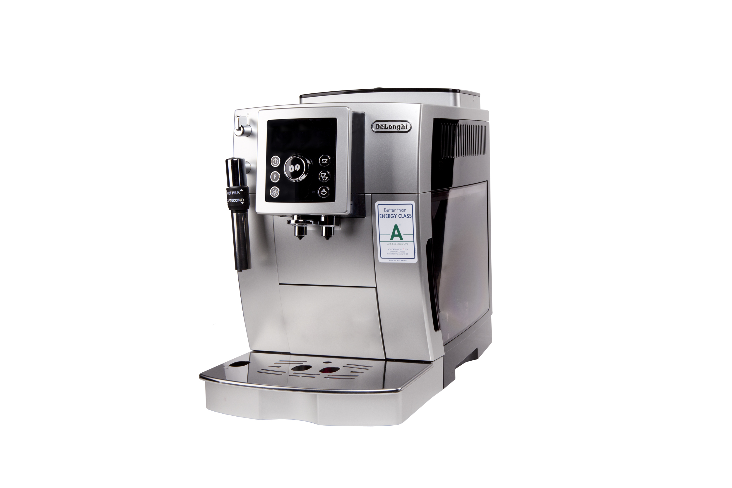 delongi kaffeevollautomat cappuccino cafe espresso kaffeemaschine silber schwarz ebay. Black Bedroom Furniture Sets. Home Design Ideas