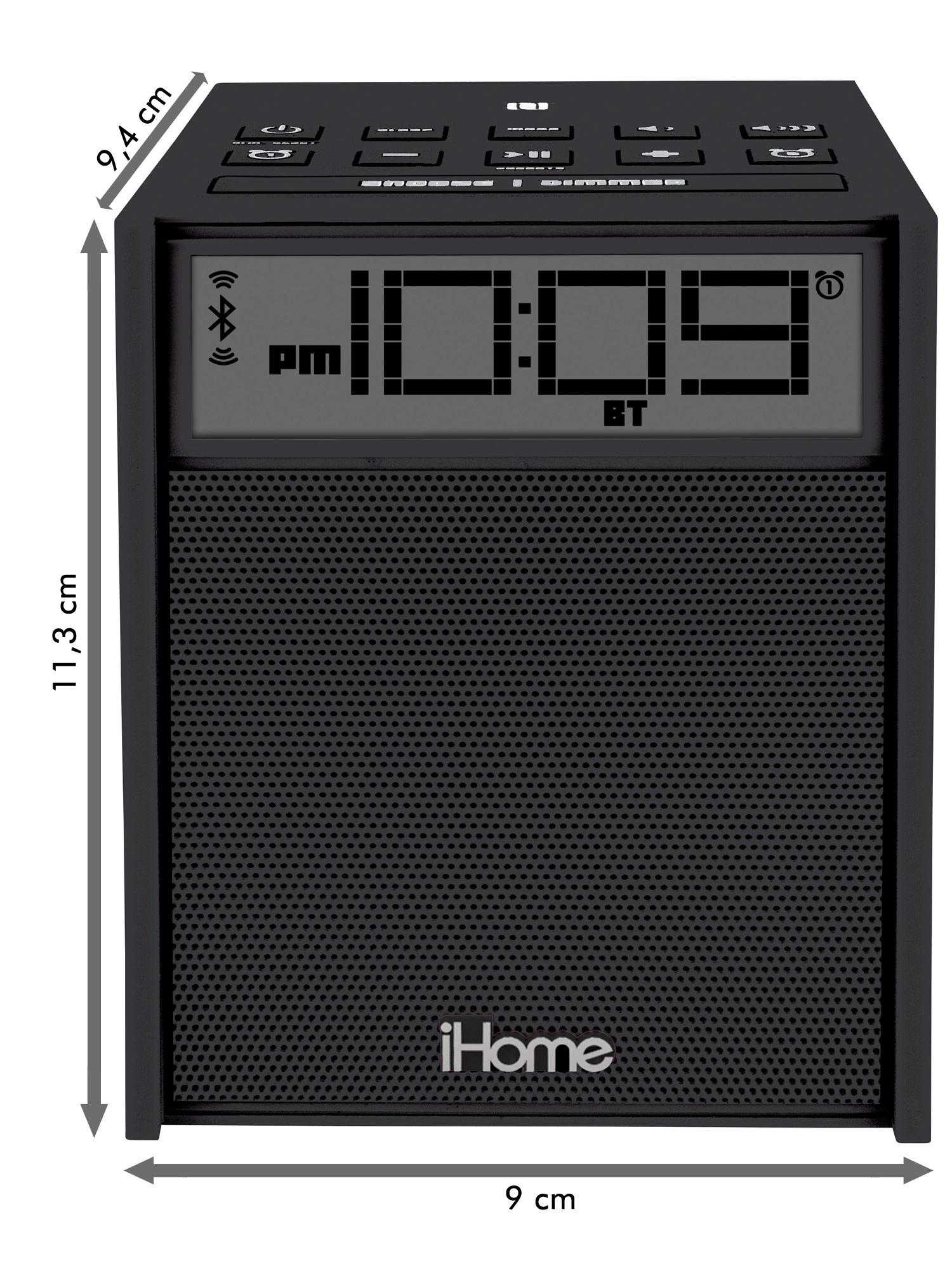 ihome ibn180 radiowecker nfc bluetooth fm radio dual alarm. Black Bedroom Furniture Sets. Home Design Ideas