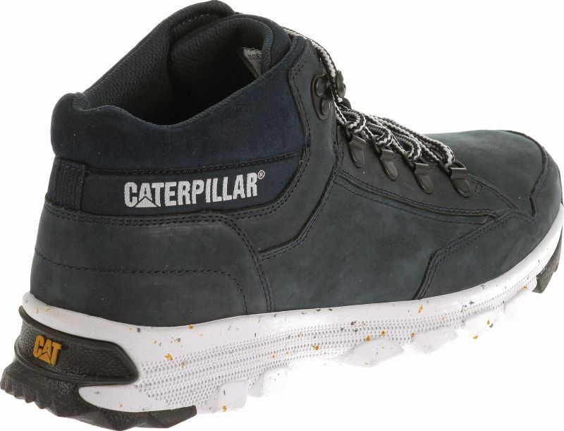 caterpillar cat shoes herren schuhe interact mid midnight blau dunkelblau 40 46 ebay. Black Bedroom Furniture Sets. Home Design Ideas