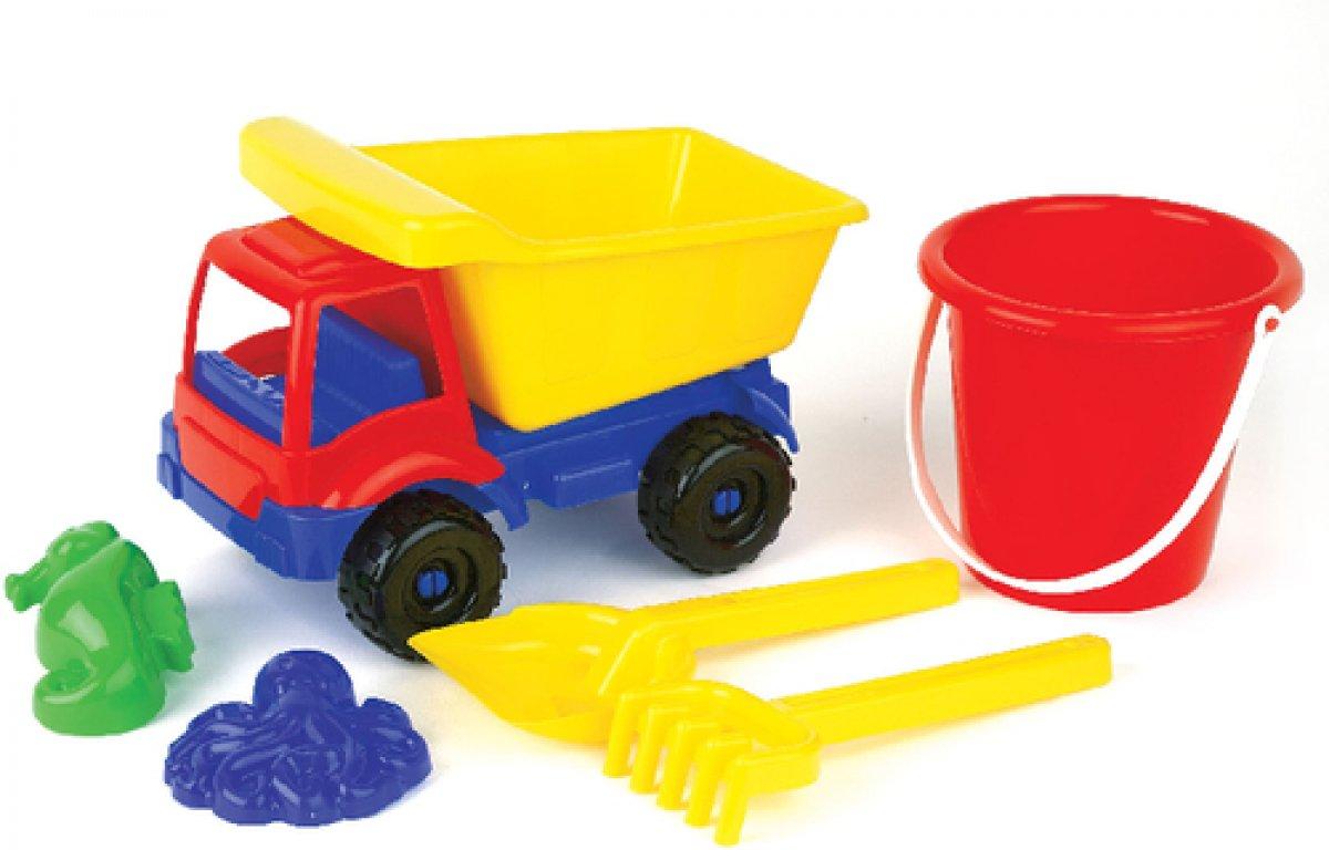 Sand lkw mit sandgarnitur teilig sandspielzeug