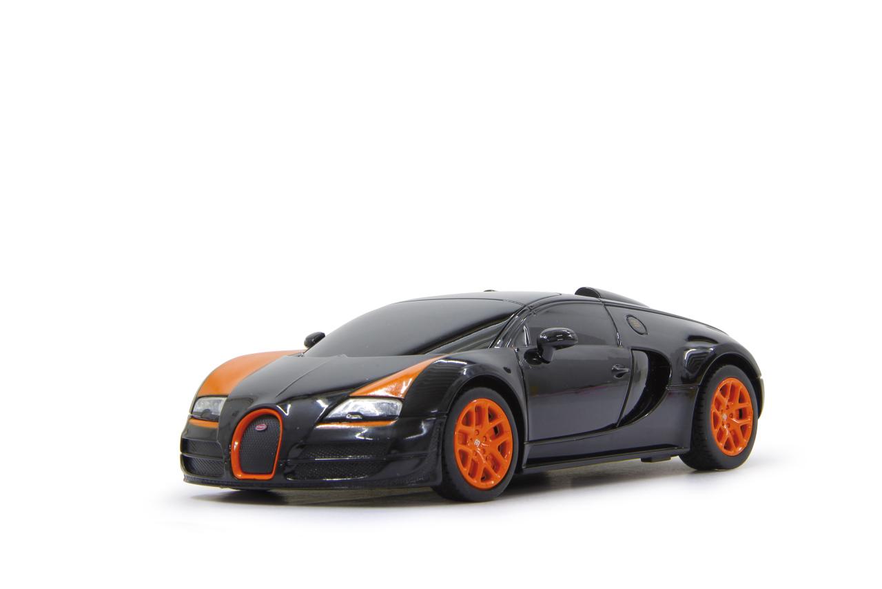 jamara 404587 bugatti veyron grand sport vitesse 1 18 schwarz orange rc auto ebay. Black Bedroom Furniture Sets. Home Design Ideas