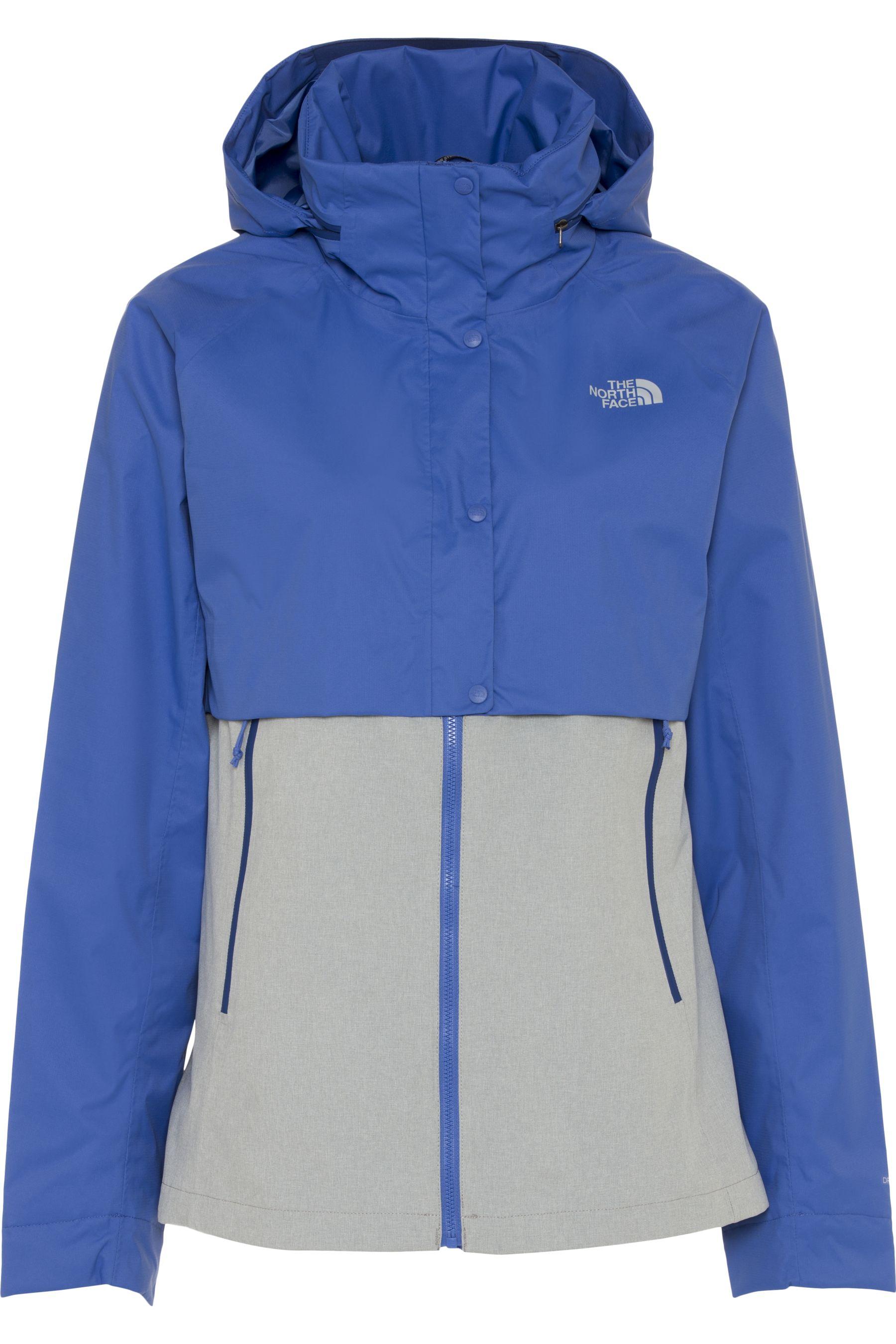 neueste kaufen attraktiver Preis Online-Verkauf Details zu The North Face Damen Kayenta Jacke Kapuze Übergangsjacke Blau  Grau 48 Large L