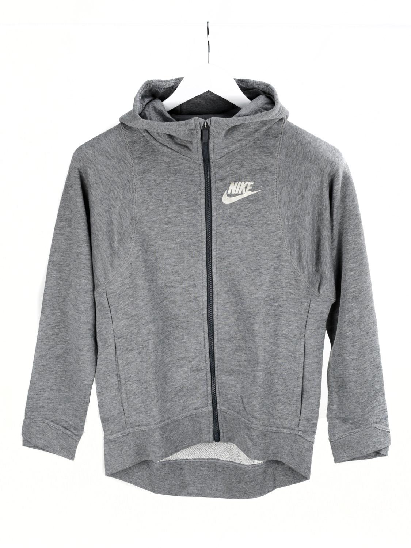 Nike Training Hoodie Kinder Kapuzenjacke Mädchen grau