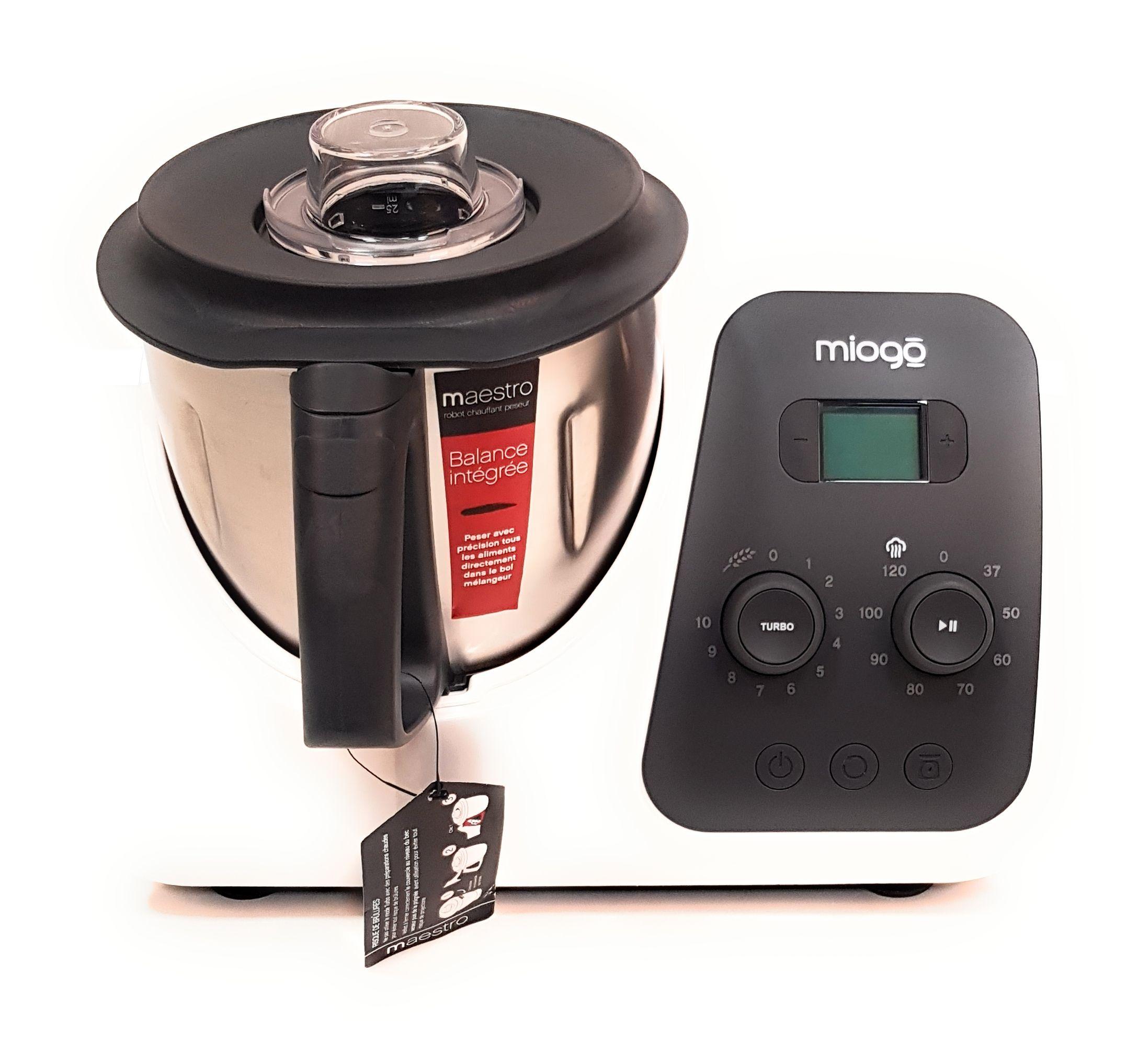 Miogo Küchenmaschine Maestro Blanc 1500W 2L Küchenroboter ...