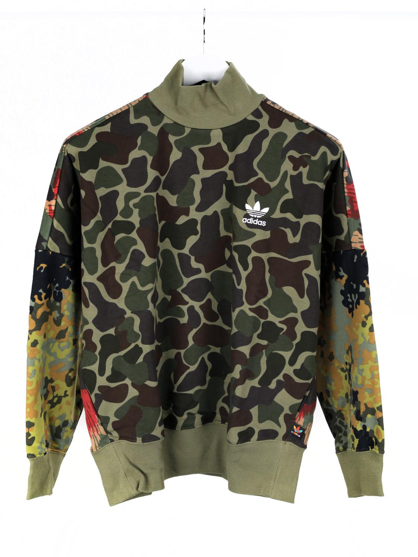 Détails sur Adidas Pharrell Williams Femmes Sweat Pull Hoodie camouflage vert 36 afficher le titre d'origine