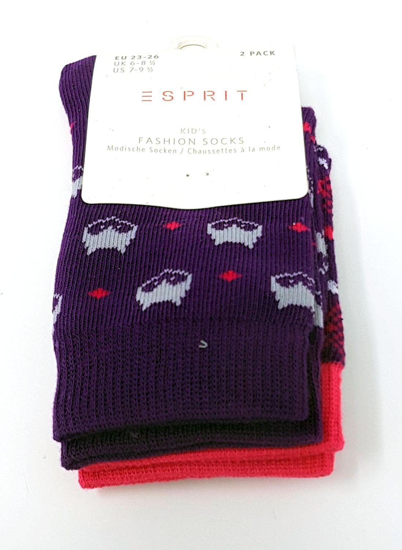 Gr/ö/ße 23-42 Farben Versch 2 Paar Baumwollmischung ESPRIT Kinder Socken Ladybug 2er Pack Str/ümpfe im Doppelpack im Marienk/äfer-Design