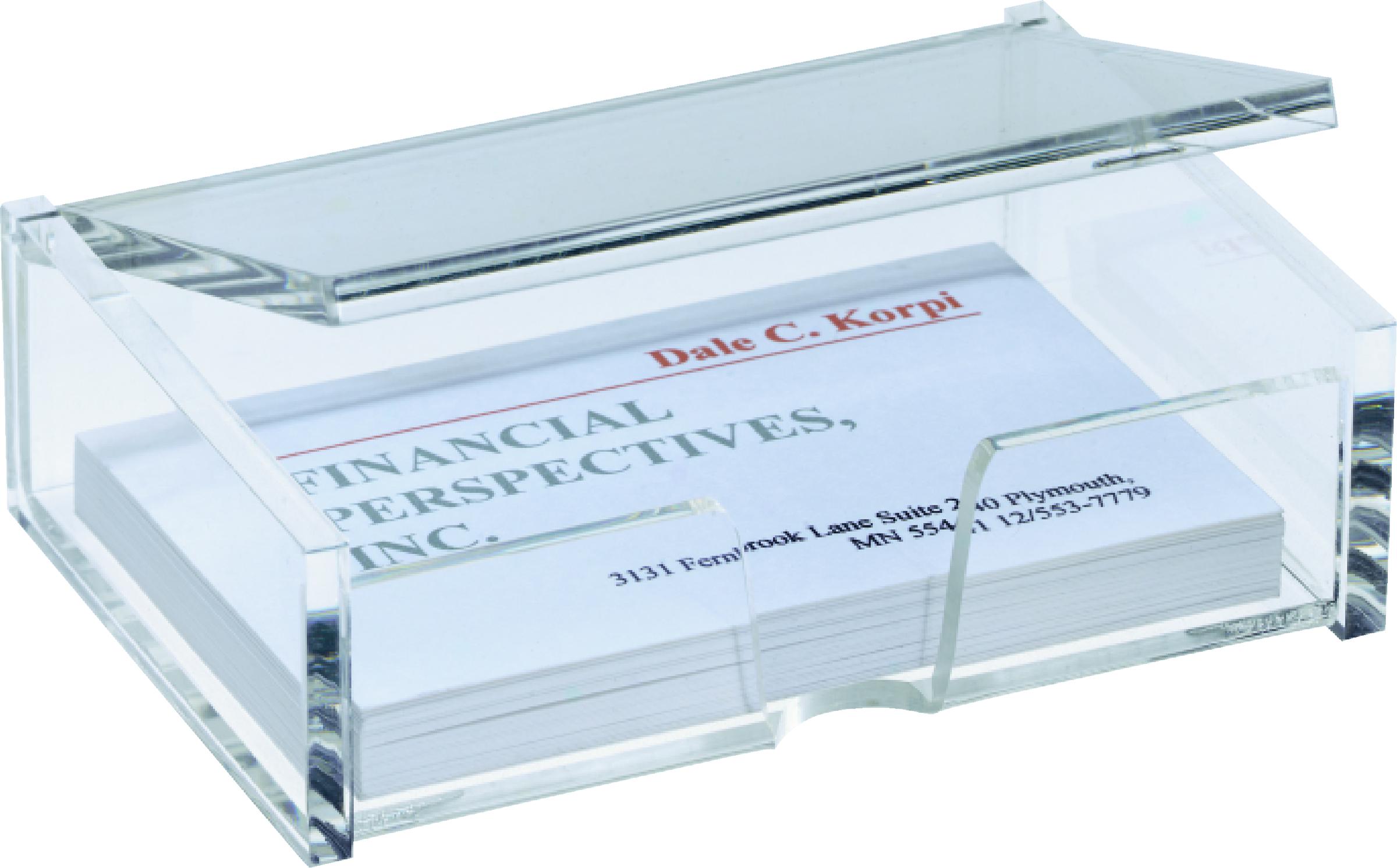 Details Zu Sigel Visitenkartenbox Acryl 98 X 68 X 29 Mm Für 80 Karten Kartengröße
