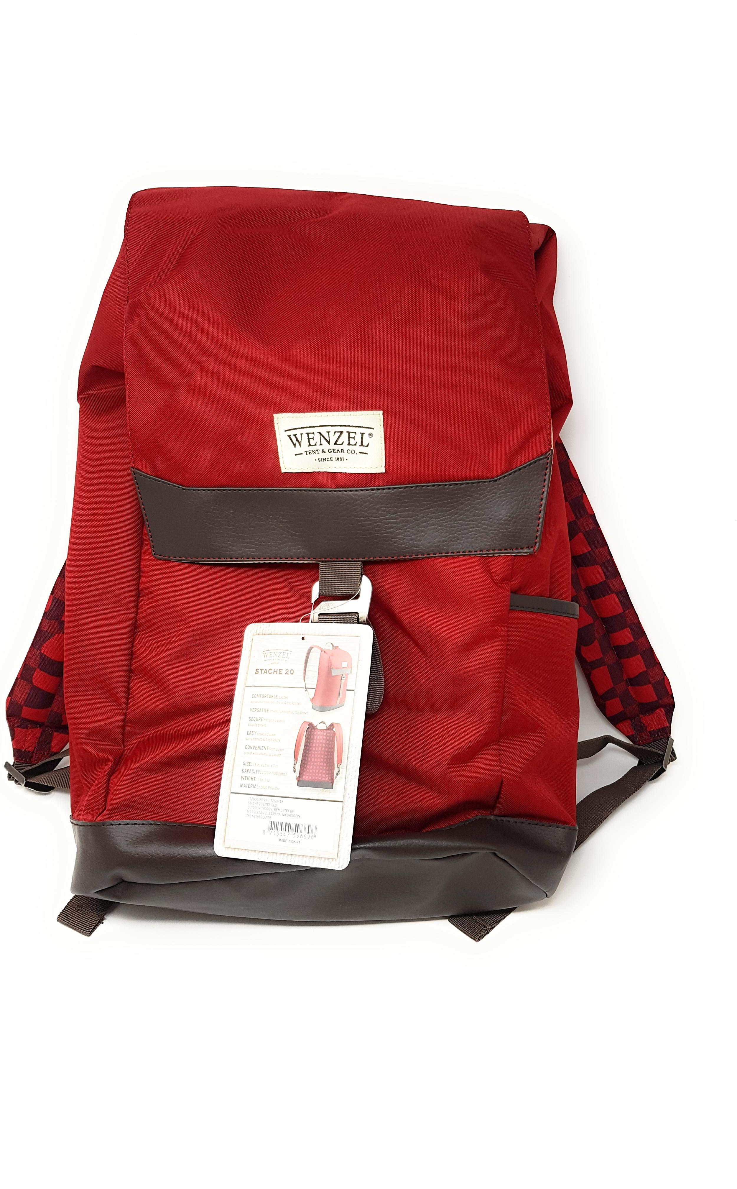 e4dda3024c066 Wenzel Damen Herren Rucksack Bag Backpack Outdoor Wandern Reisen Rot 20 L