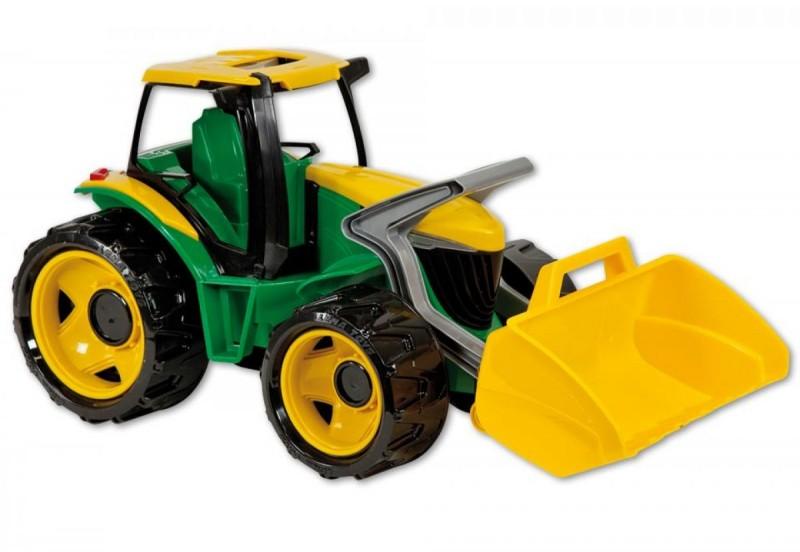 Starke riesen traktor mit frontlader grün gelb spielzeug