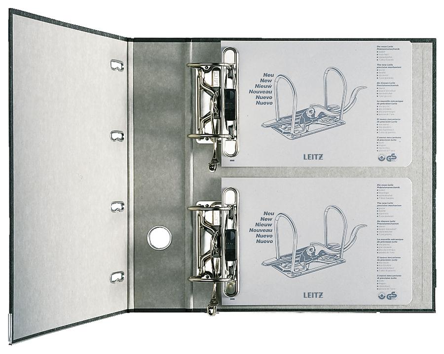 mit Griffloch... SK-Rückenschild RC LEITZ® Doppelordner Wolkenmarmorpapier